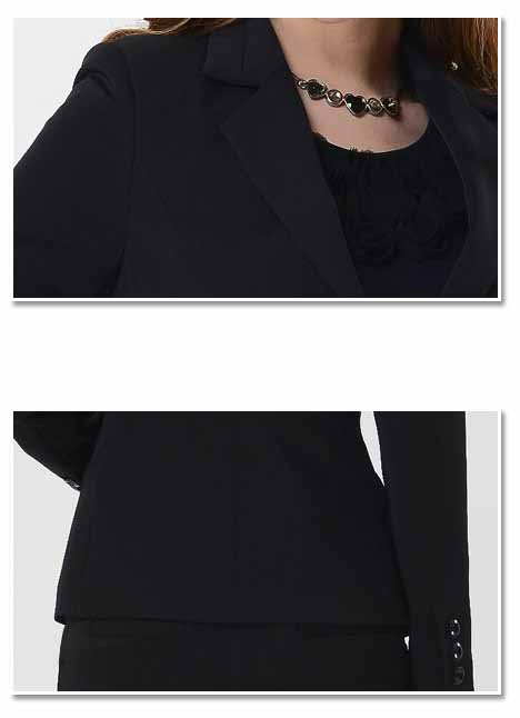 เสื้อสูท แฟชั่นเกาหลีผู้หญิงทำงานสวย นำเข้าไซส์Sถึง3XLสีดำ