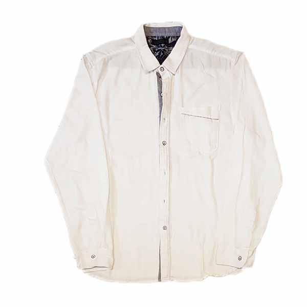 เสื้อเชิ้ตผู้ชาย แขนยาวสีขาวแฟชั่นเกาหลีใส่ลุคทำงานอินเทรนด์เท่แมน นำเข้า ไซส์ XL - พร้อมส่งMS4255 ราคา350บาท