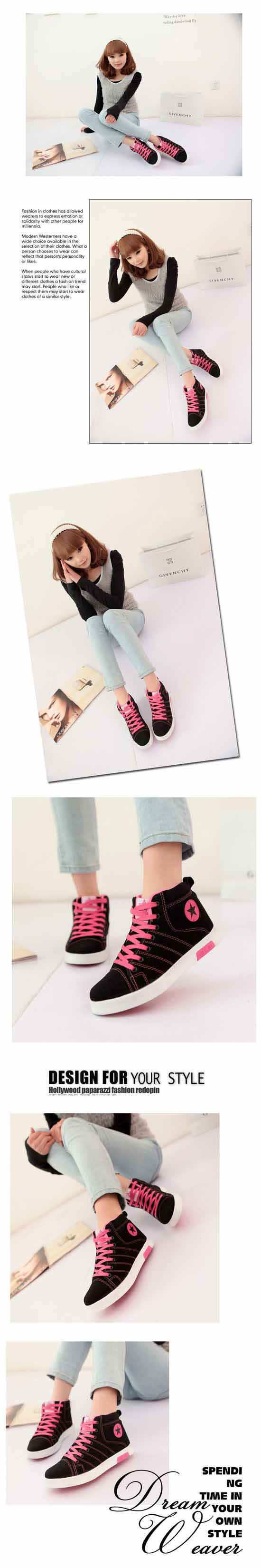 รองเท้าผ้าใบ แฟชั่นเกาหลีหุ้มข้อสไตล์แบรนด์ นำเข้า ไซส์36ถึง40