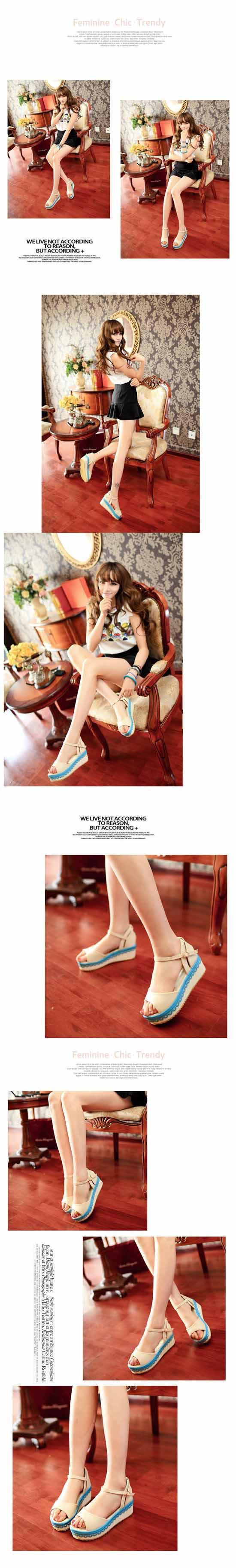 รองเท้าส้นตึก แฟชั่นเกาหลีส้นเตารีดหวานน่ารัก นำเข้าไซส์34ถึง39 พรีออเดอร์RB2152