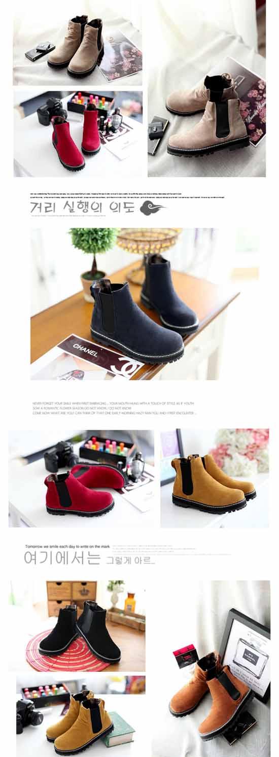 รองเท้าบูทสั้น แฟชั่นเกาหลีหุ้มข้อเท่มาก นำเข้า ไซส์34ถึง43 พรีออเดอร์RB2192 ราคา1450บาท