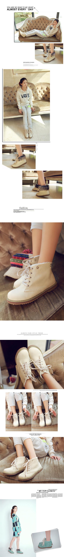 รองเท้าบูทส้นเตี้ย แบบผ้าใบถอดขนเฟอร์ได้แฟชั่นเกาหลีรุ่นใหม่ นำเข้า ไซส์34ถึง43 สีครีม - พรีออเดอร์RB2255 ราคา1680บาท