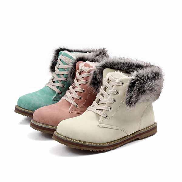 รองเท้าบูทส้นเตี้ย แบบผ้าใบถอดขนเฟอร์ได้แฟชั่นเกาหลีรุ่นใหม่ นำเข้า ไซส์34ถึง43 - พรีออเดอร์RB2255 ราคา1680บาท