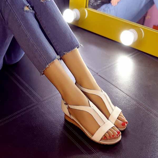 รองเท้าเพื่อสุขภาพ ดีไซน์รองเท้ามีส้นหนังแท้แฟชั่นเกาหลี นำเข้า ไซส์34ถึง40 สีขาว - พรีออเดอร์RB2257 ราคา1600บาท