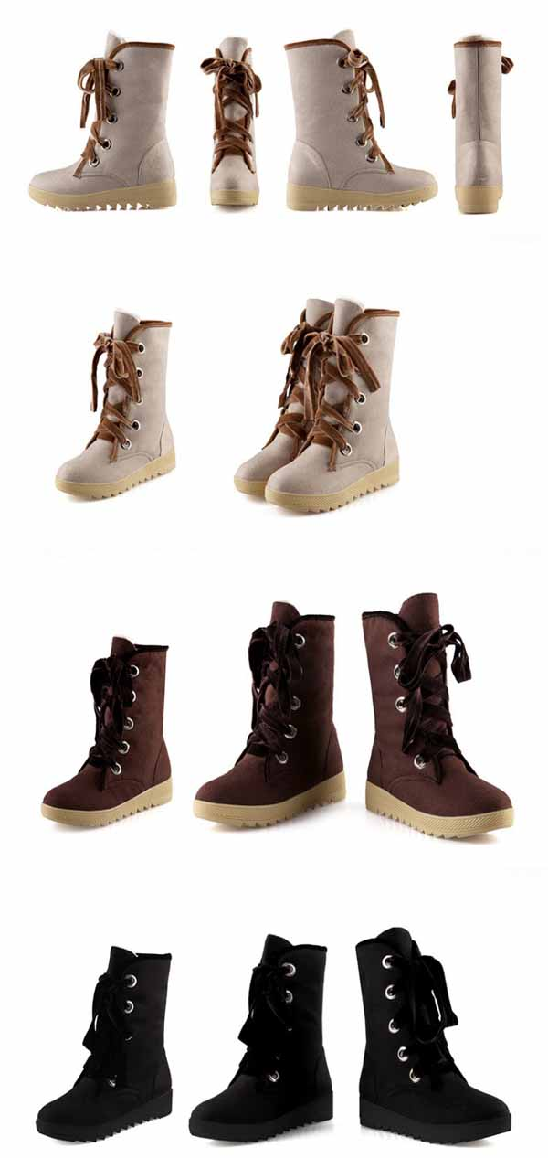 รองเท้าบูทส้นเตี้ย กันหนาวแฟชั่นเกาหลีด้านในบุขนนุ่มเท้า นำเข้า ไซส์34ถึง39 สีดำ - พรีออเดอร์RB2265 ราคา1650บาท
