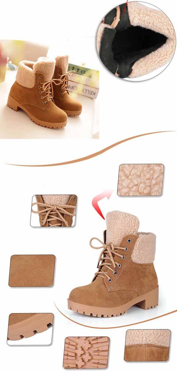รองเท้าบูทหุ้มข้อ กันหนาวแฟชั่นเกาหลีส้นเตี้ยบุขนรุ่นใหม่ นำเข้า ไซส์34ถึง43 - พรีออเดอร์RB22675 ราคา1750บาท
