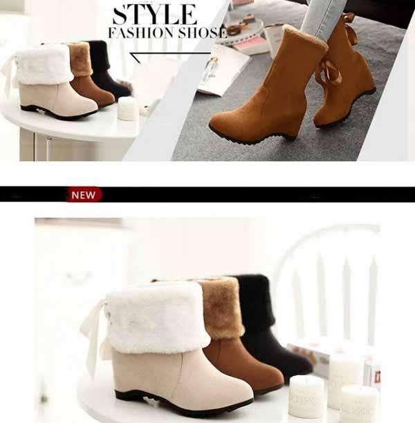 รองเท้าบูทกันหนาว แฟชั่นเกาหลีบุขนนุ่มสวยใส่ได้2แบบ นำเข้า ไซส์34ถึง43 - พรีออเดอร์RB2276 ราคา1750บาท