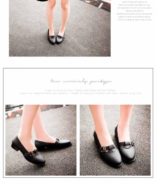 รองเท้าส้นเตี้ย แบบสวมน่ารักสไตล์แฟชั่นเกาหลีคัทชูรุ่นใหม่ นำเข้าไซส์34ถึง43 - พรีออเดอร์RB2297 ราคา1700บาท