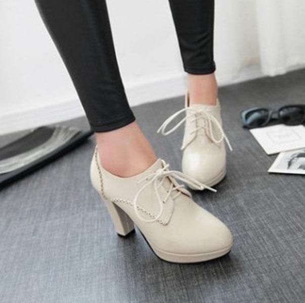 รองเท้าส้นสูง แฟชั่นเกาหลีหัวแหลมหุ้มส้นเท้ามีเชือกผูก นำเข้า ไซส์33ถึง44 - พรีออเดอร์RB2327 ราคา1950บาท