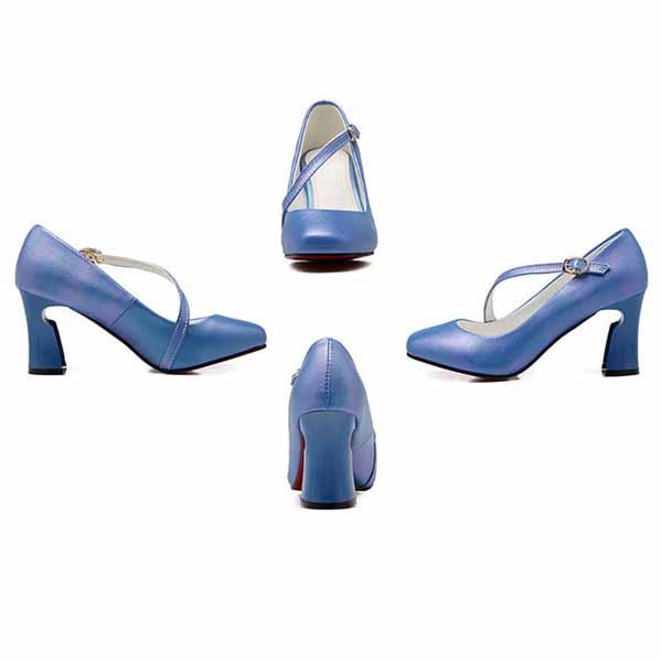 รองเท้าส้นสูง แฟชั่นเกาหลีหุ้มส้นสายไขว้หลังเท้าเสริมเสน่ห์ นำเข้า ไซส์33ถึง43 - พรีออเดอร์RB2329 ราคา1890บาท