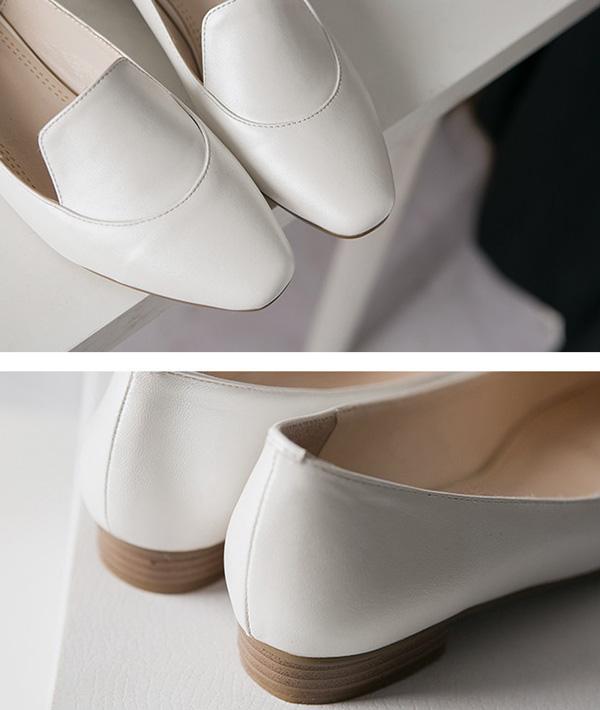 รองเท้าส้นเตี้ย เพื่อสุขภาพเท้าที่ดีแฟชั่นเกาหลีคัทชูหนังสวยใหม่ นำเข้าไซส์34ถึง39 - พรีออเดอร์RB2341 ราคา1800บาท