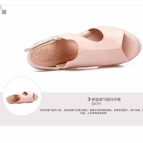 รองเท้าส้นตึก แฟชั่นเกาหลีส้นเตารีดใส่สบายมีไซส์ใหญ่ นำเข้าไซส์33ถึง43 - พรีออเดอร์RB2349 ราคา1900บาท