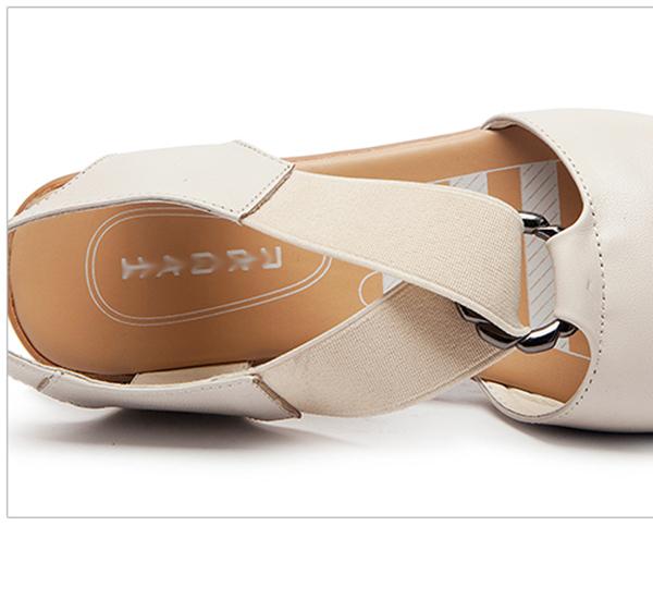 รองเท้าหนังเพื่อสุขภาพ แฟชั่นเกาหลีดีไซส์สวยหนังแท้สำหรับทุกวัย นำเข้า ไซส์35ถึง40 สีครีม - พรีออเดอร์RB2352 ราคา1600บาท