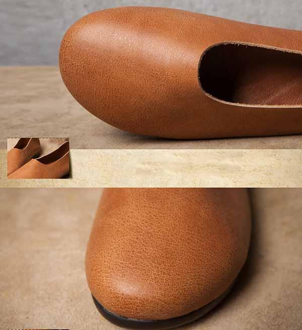 รองเท้าหนังแท้เพื่อสุขภาพ แฟชั่นเกาหลีส้นแบนหัวมนสวมสบาย นำเข้า ไซส์35ถึง40 - พรีออเดอร์RB2355 ราคา2850บาท
