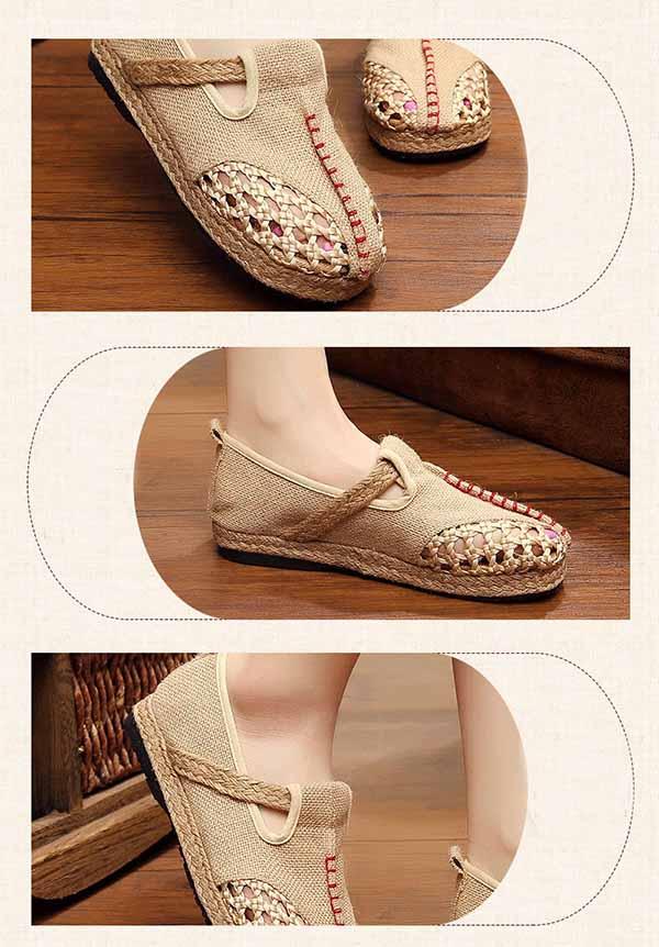 รองเท้าเพื่อสุขภาพ แฟชั่นเกาหลีผ้าลินินทอมือนุ่มสบาย นำเข้า ไซส์35ถึง40 - พรีออเดอร์RB2364 ราคา1500บาท
