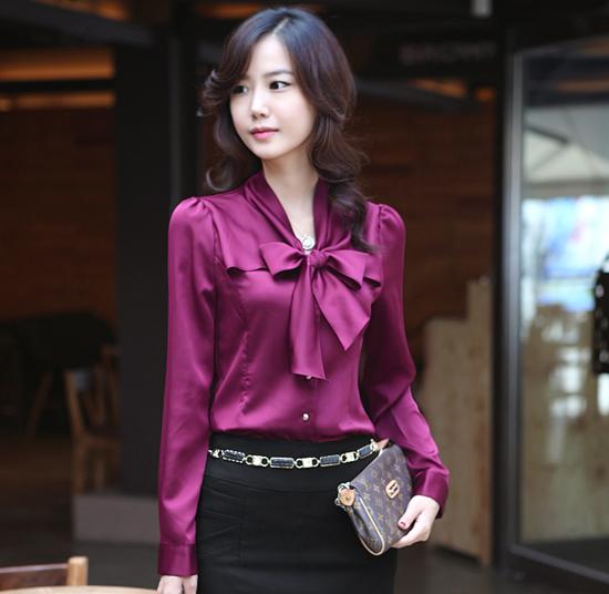 เสื้อเชิ้ต ทำงานผู้หญิงสวยแฟชั่นเกาหลี
