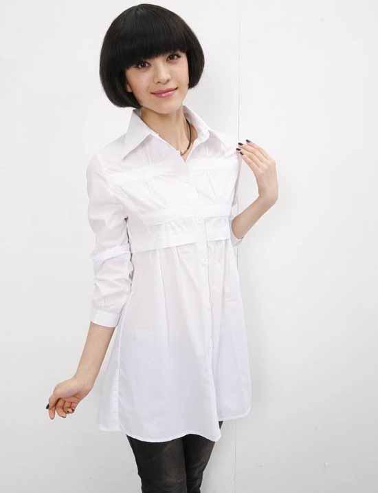 เสื้อเชิ้ต แฟชั่นเกาหลี สวยตัวยาวหลวมใหม่ใส่สบาย นำเข้า ไซส์M-XXXL พรีออเดอร์SJ1328 ราคา850บาท