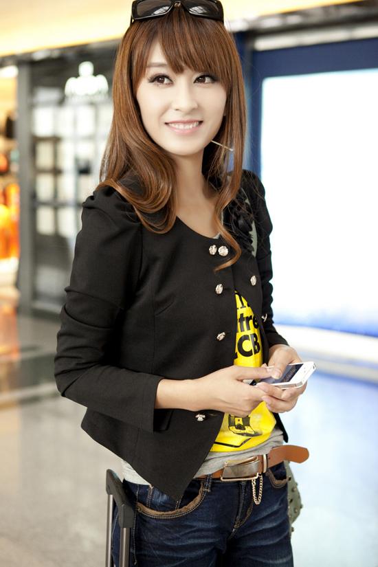 เสื้อสูท แฟชั่นเกาหลี นำเข้า สีดำ - พรีออเดอร์