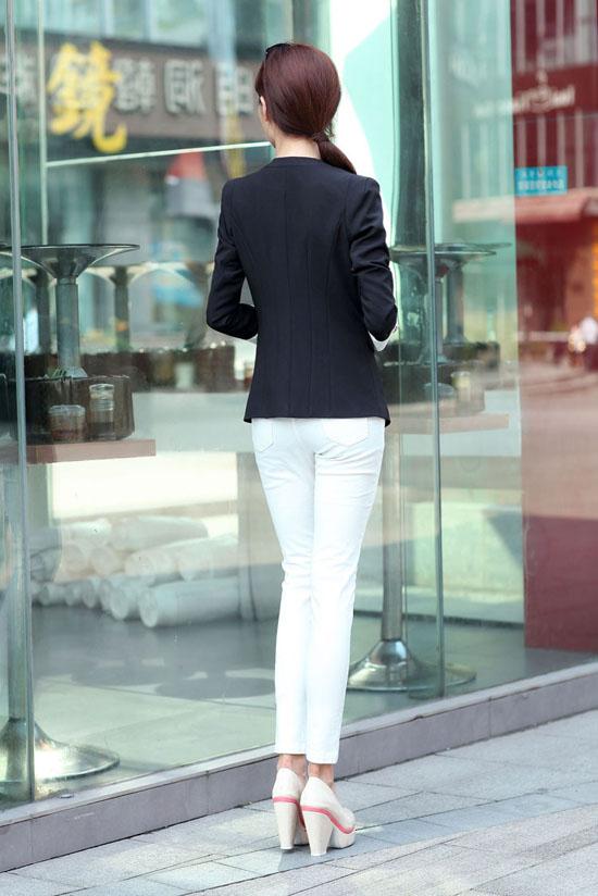 เสื้อสูท แฟชั่นเกาหลีสีหวานสวยคอวีใหม่