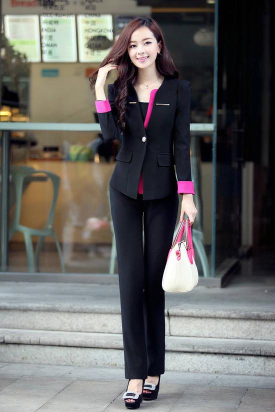 ชุดสูททำงาน แฟชั่นเกาหลีผู้หญิงกางเกงสวย3ชิ้นหรู นำเข้าไซส์Sถึง3XL พรีออเดอร์
