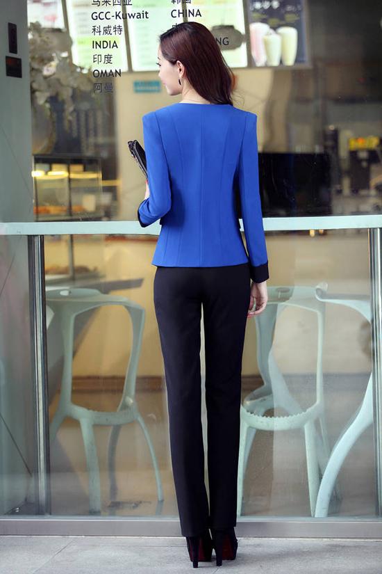 ชุดสูททำงาน แฟชั่นเกาหลีผู้หญิงกางเกงสวย3ชิ้นหรู นำเข้า พรีออเดอร์