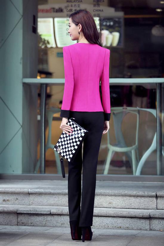 ชุดสูททำงาน แฟชั่นเกาหลีผู้หญิงกางเกงสวย3ชิ้นหรู