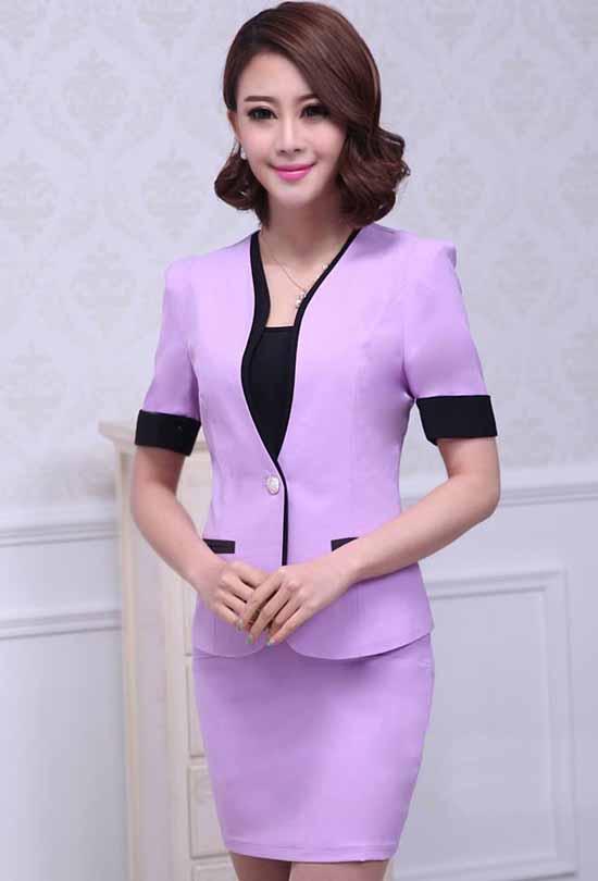 ผู้หญิงทำงานออฟฟิศสวยในชุดสูทกระโปรงแฟชั่นเกาหลี นำเข้าไซส์Sถึง3XL พรีออเดอร์SJ1362