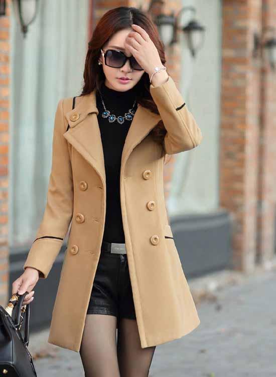 เสื้อโค้ท กันหนาวผ้าวูลหนาแฟชั่นเกาหลีตัวยาวดีไซน์แจ็คเก็ต นำเข้าไซส์Mถึง3XLสีน้ำตาล - พรีออเดอร์SJ1383 ราคา1890บาท