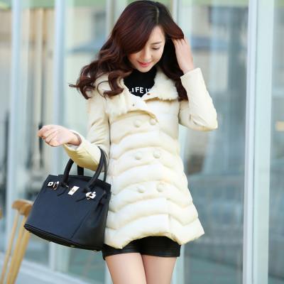 เสื้อโค้ทกันหนาว ดีไซน์แจ็คเก็ตกันลมแฟชั่นเกาหลี นำเข้าไซส์Mถึง3XL ครีม - พรีออเดอร์SJ1384 ราคา2790บาท