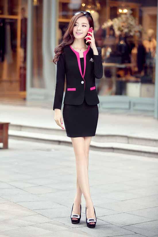 ชุดสูทผู้หญิง แฟชั่นเกาหลี2ชิ้นคุณภาพหรูหรา นำเข้า - พรีออเดอร์SJ2013