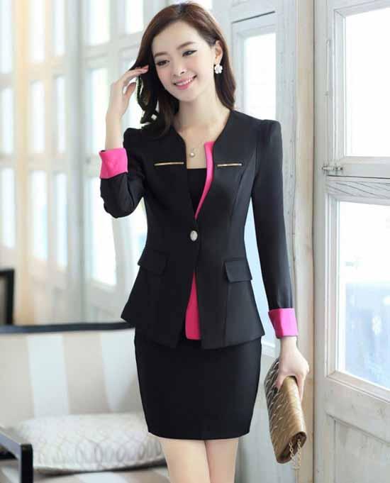 ชุดสูท แฟชั่นเกาหลีผู้หญิงสวย3ชิ้นอินเทรนด์ใหม่ นำเข้า ไซส์SถึงXXL สีดำ พรีออเดอร์