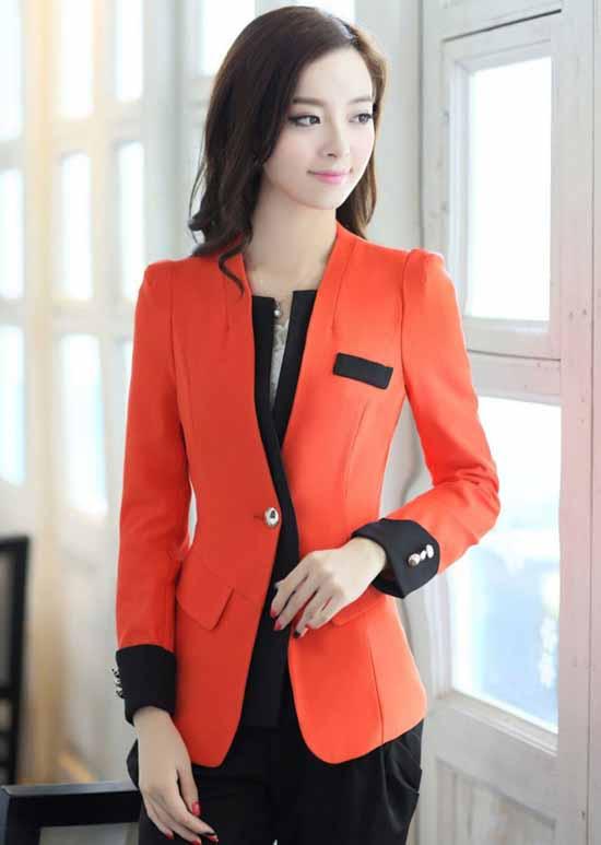 เสื้อสูทสวยเหมือยรูป แฟชั่นเกาหลีผู้หญิงทำงานรุ่นใหม่อินเทรนด์