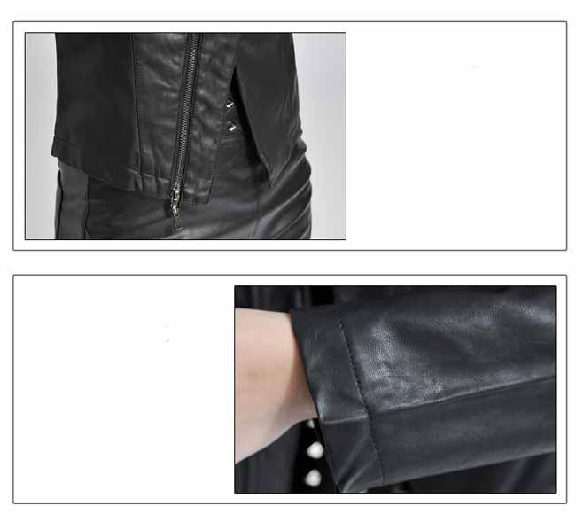 เสื้อแจ็คเก็ต แฟชั่นเกาหลีเสื้อคลุมคอวีสวยรุ่นใหม่ นำเข้า สีดำ - พร้อมส่ง