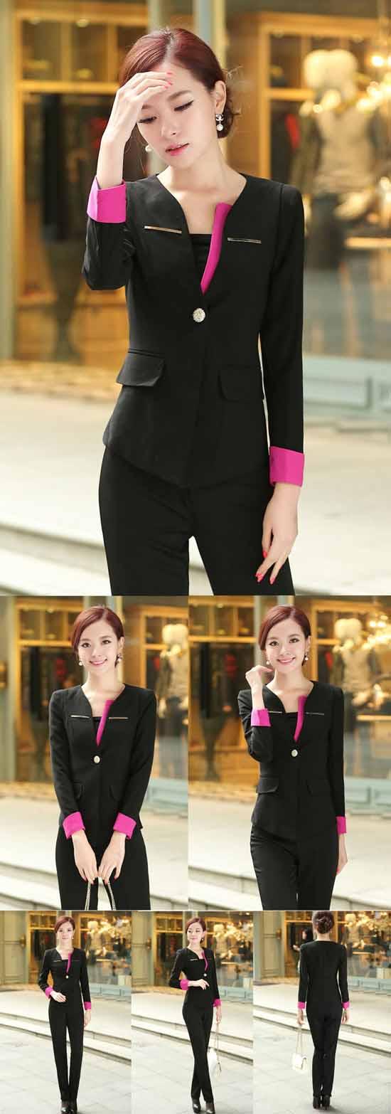 เสื้อสูท แฟชั่นเกาหลีสวยใส่ดูงานหรูออกงานราชการใหม่ นำเข้า ไซส์S สีดำ - พร้อมส่ง