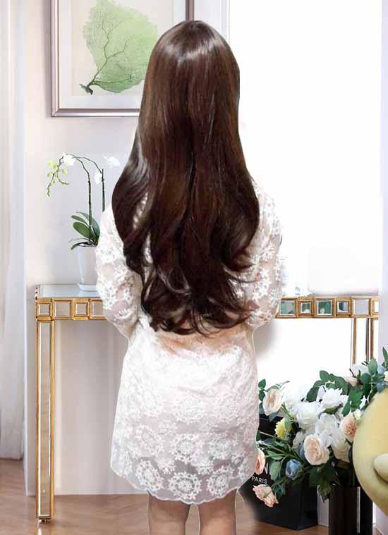 ชุดราตรี ผ้าแก้วเกาหลีลายดอกไม้ชุดแยก2ชิ้นสวยหรู นำเข้า ไซส์L สีขาว - พร้อมส่งTJ7277 ราคา1350บาท