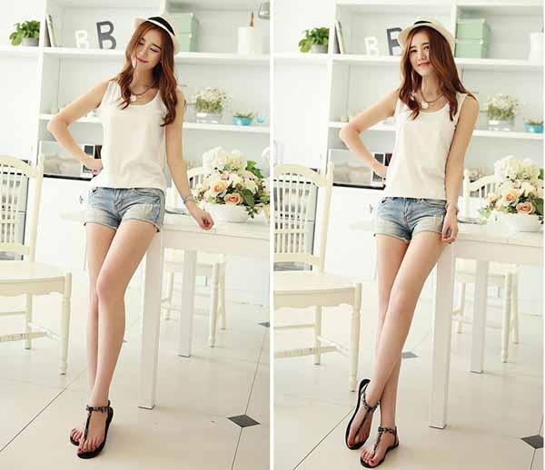 เสื้อชีฟองแขนกุด แฟชั่นเกาหลีใหม่พริ้วสวยใส่สบาย นำเข้า ฟรีไซส์ สีขาว - พร้อมส่งTJ7285 ราคา450บาท