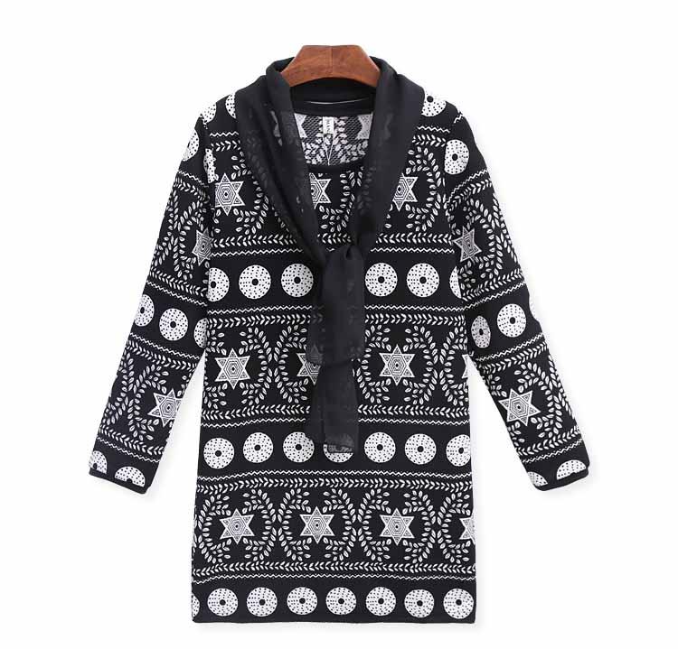 เสื้อยืดแขนยาว ตัวหลวมสไตล์ชุดแซกแฟชั่นเกาหลีลายวินเทจพร้อมผ้าพันคอ นำเข้า ฟรีไซส์ สีดำ - พร้อมส่งTJ7939 ราคา1250บาท