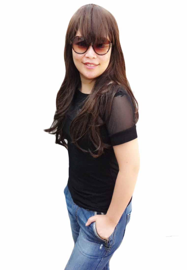 เสื้อยืดแขนสั้น แฟชั่นเกาหลีผู้หญิงซีทรูช่วงอกและต้นแขนเซ็กซี่สุดเปรี้ยว นำเข้า ฟรีไซส์ สีดำ - พร้อมส่งTJ7464 ราคา450บาท