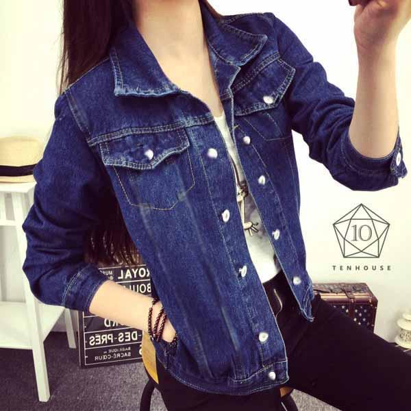เสื้อแจ็คเก็ตยีนส์ ผู้หญิงแฟชั่นเกาหลีแขน3ส่วนเอวตรงสวยเข้ารูปเซ็กซี่ ส่งออก ฟรีไซส์ - พร้อมส่งTJ7644 ราคา750บาท