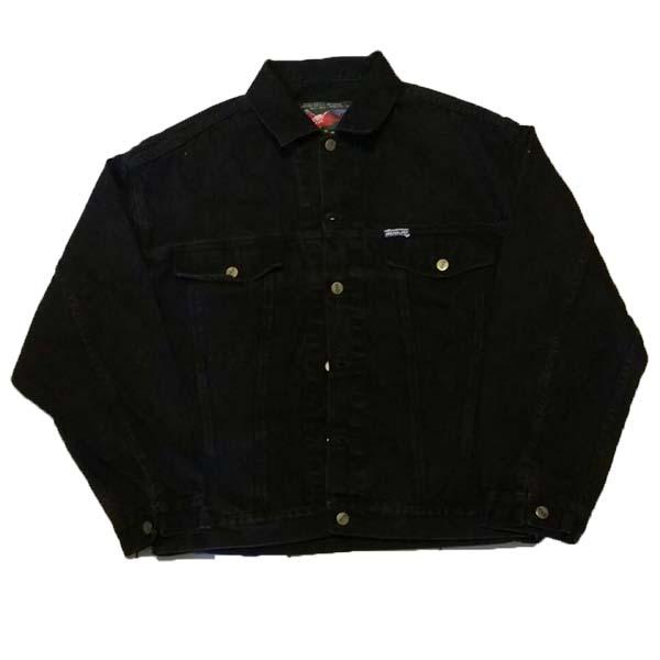 เสื้อแจ็คเก็ตยีนส์แฟชั่นเกาหลีแขนยาวเอวตรงทรงหลวมเทรนด์ใหม่ สียีนส์ดำ - พร้อมส่งTJ7735