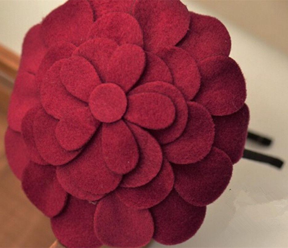 ที่คาดผม แต่งดอกไม้ใหญ่หรูหราเบาสวมสบายสำหรับทุกคนแฟชั่นเกาหลี นำเข้า สีแดงม่วง - พร้อมส่งW019 ราคา370บาท