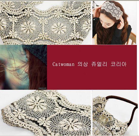 ที่คาดผมลูกไม้ แฟชั่นเกาหลีแบบยางยืดใส่สำหรับงานแต่งงานสวย นำเข้า - พร้อมส่งW021 ราคา 180 บาท
