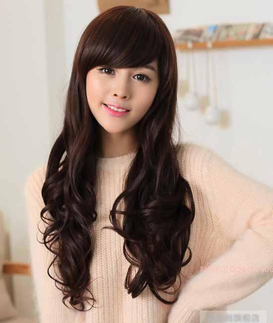 วิกผมยาว แบบสาวเกาหลีวุ้งวิ้งดัดลอนสวยเซ็กซี่ นำเข้า สีน้ำตาล - พร้อมส่งW022 ราคา670บาท