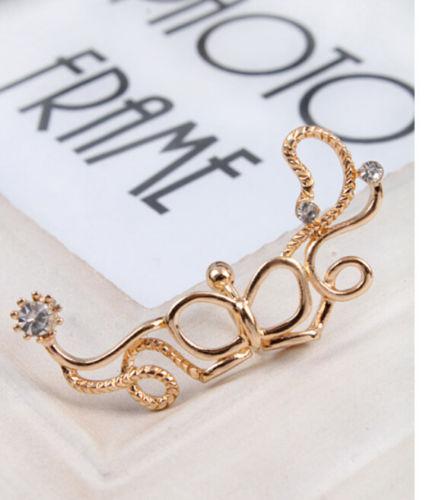 ต่างหูคลิป แฟชั่นเกาหลีหนีบด้านข้างใบหูสวย Flower Clip Ear Cuff Stud Earring นำเข้า - พร้อมส่งW171 ราคา300บาท