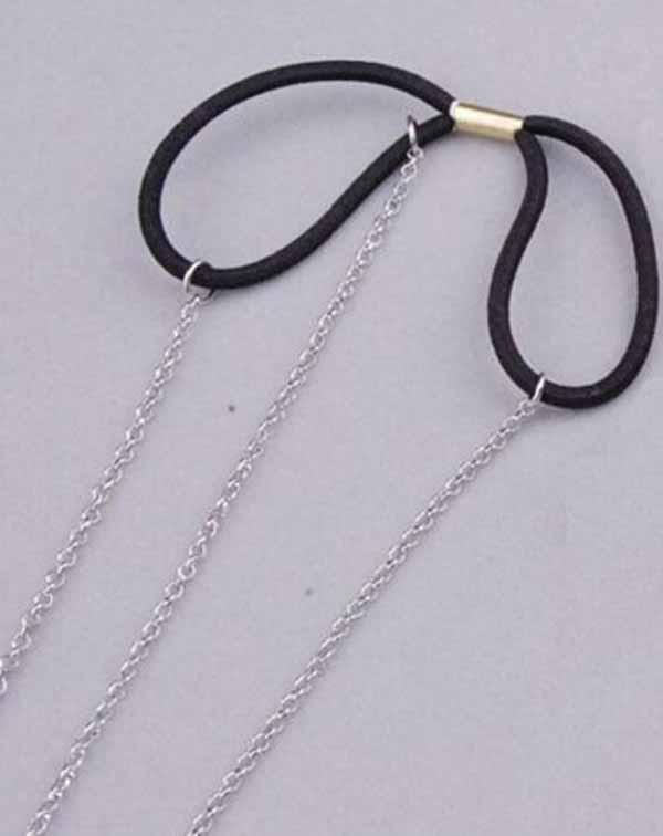 ที่คาดผมเกาหลี แฟชั่นสายโซ่คาดศีรษะรูปนก Silver Head Chain Headband นำเข้า สีเงิน - พร้อมส่งW276 ราคา180บาท