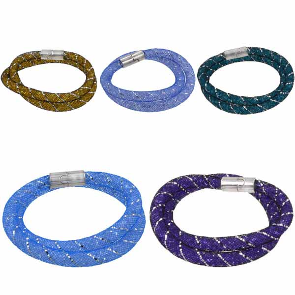 สร้อยคอ สร้อยข้อมือคริสตัล Stardust Crystal Wrap Mesh Magnetic Clasp นำเข้า - พร้อมส่งW355 ราคา250บาท