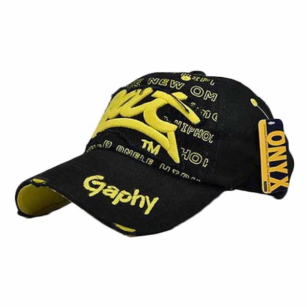 หมวกแก๊ปแฟชั่นเกาหลี ชายหญิงอินเทรนด์ปักลายเทรนด์สไตล์กีฬา BAT Hat นำเข้า สีดำเหลือง - พร้อมส่งW393 ราคา590บาท
