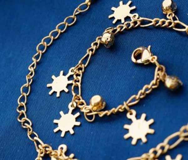 กำไลข้อมือ แฟชั่นเกาหลีสร้อยคริสตัลรูปเกล็ดหิมะสวยน่ารักใหม่ 18K Gold Bracelet นำเข้า สีทอง - พร้อมส่งW454 ราคา550บาท