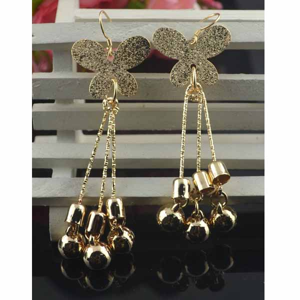 ต่างหูระย้า แฟชั่นเกาหลีผีเสื้อแต่งตุ้งติ้งสวยหรู 18K Drop Dangle Earrings นำเข้า สีทอง - พร้อมส่งW557 ราคา300บาท