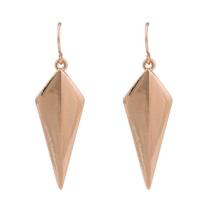 ต่างหูห่วง แฟชั่นเกาหลีทรงกราฟิกสวยมีสไตล์ Geometry 14K Hoop Earrings นำเข้า สีทอง - พร้อมส่งW581 ราคา300บาท